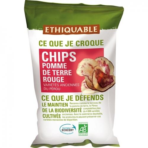 ETHIQUABLE - Chips Pomme de Terre Rouge
