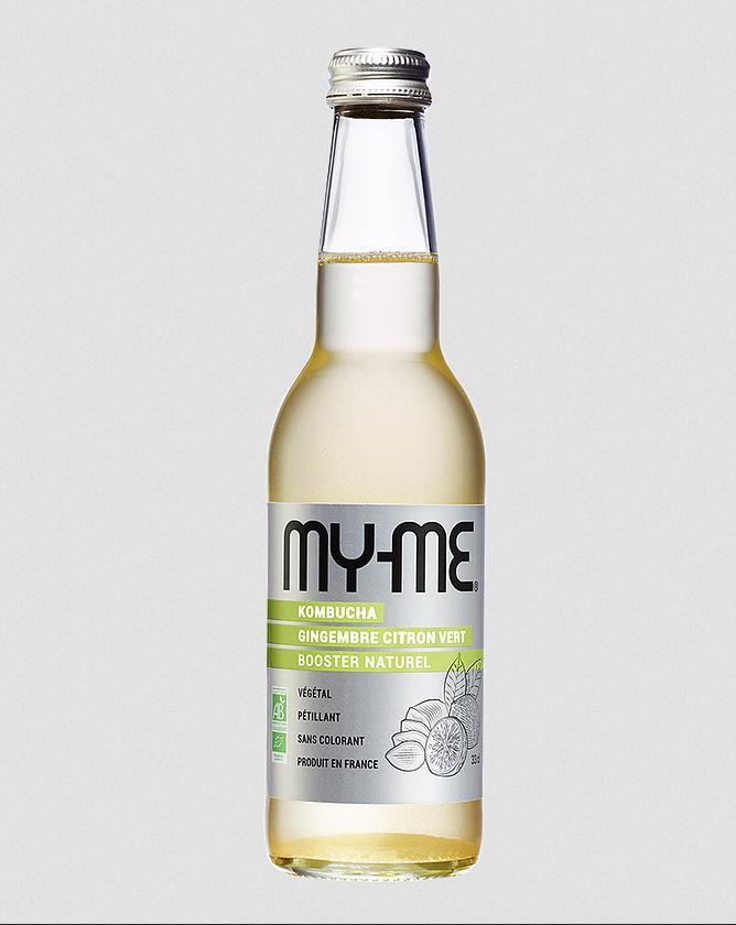 Kombucha gingembre citron vert MY-ME - 6 x 33cl