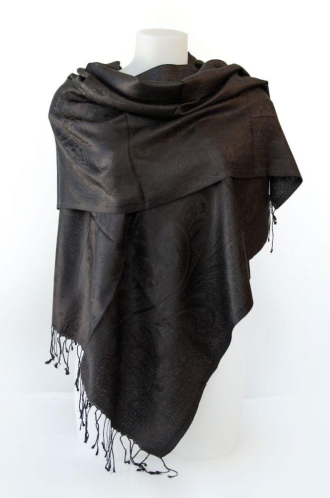 Foulard en soie - Noir