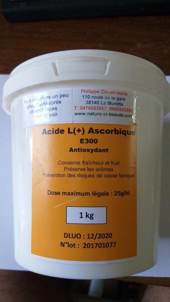 Acide L ascorbique Vitamine C 1 Kg  3 mois
