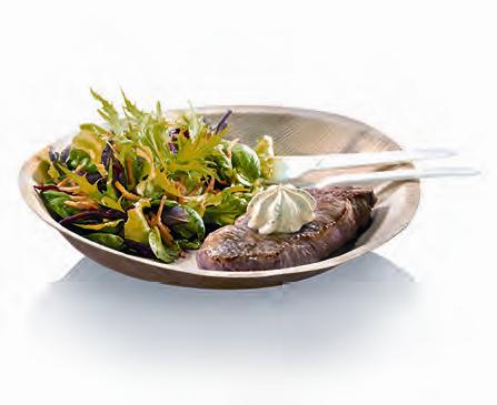 25 assiettes plates Palmier - 18 cm -
