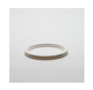Assiette blanche en canne à sucre - 18 cm   Existe en 23 cm -