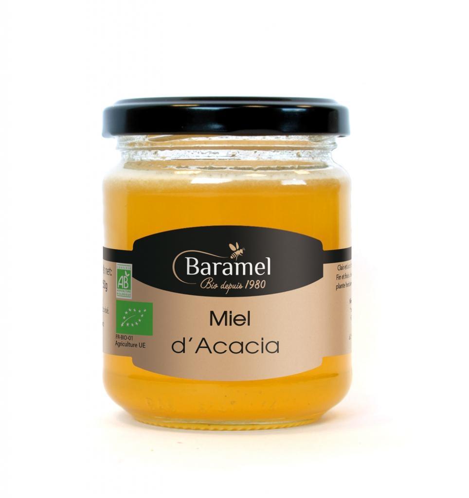 Miel d'Acacia biologique 250gr - Baramel