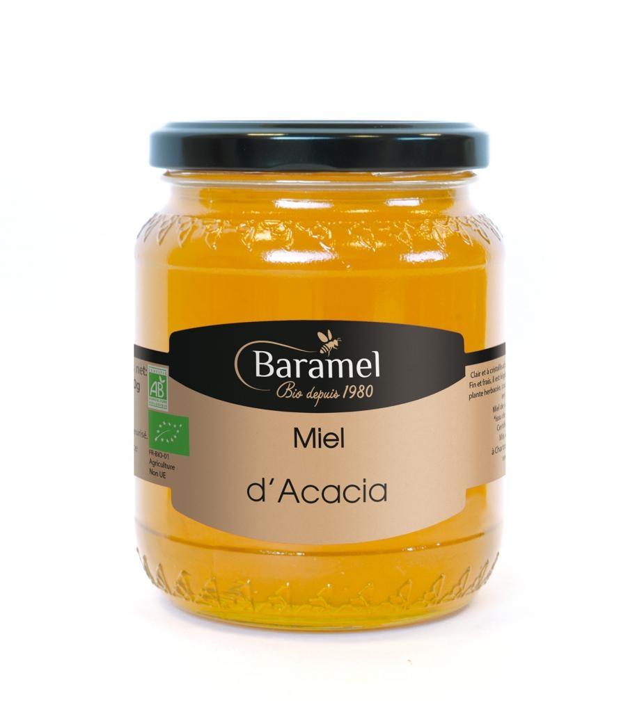 Miel d'Acacia biologique 500gr - Baramel