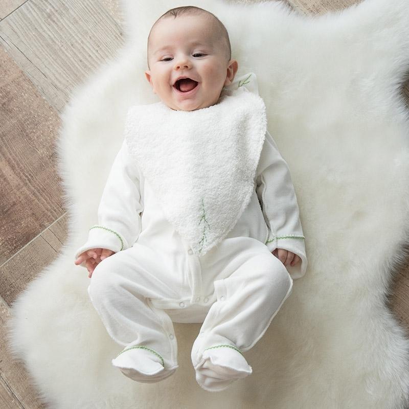 Bavoir éponge bébé
