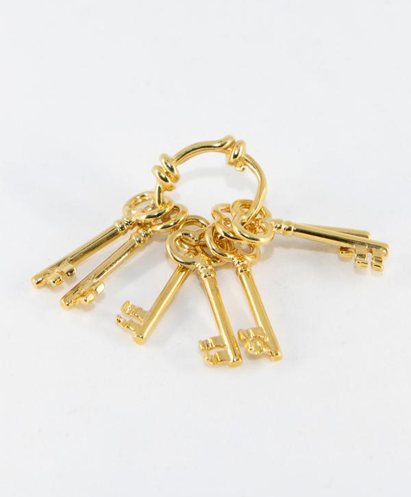 Pendentif 7 clés plaqué or