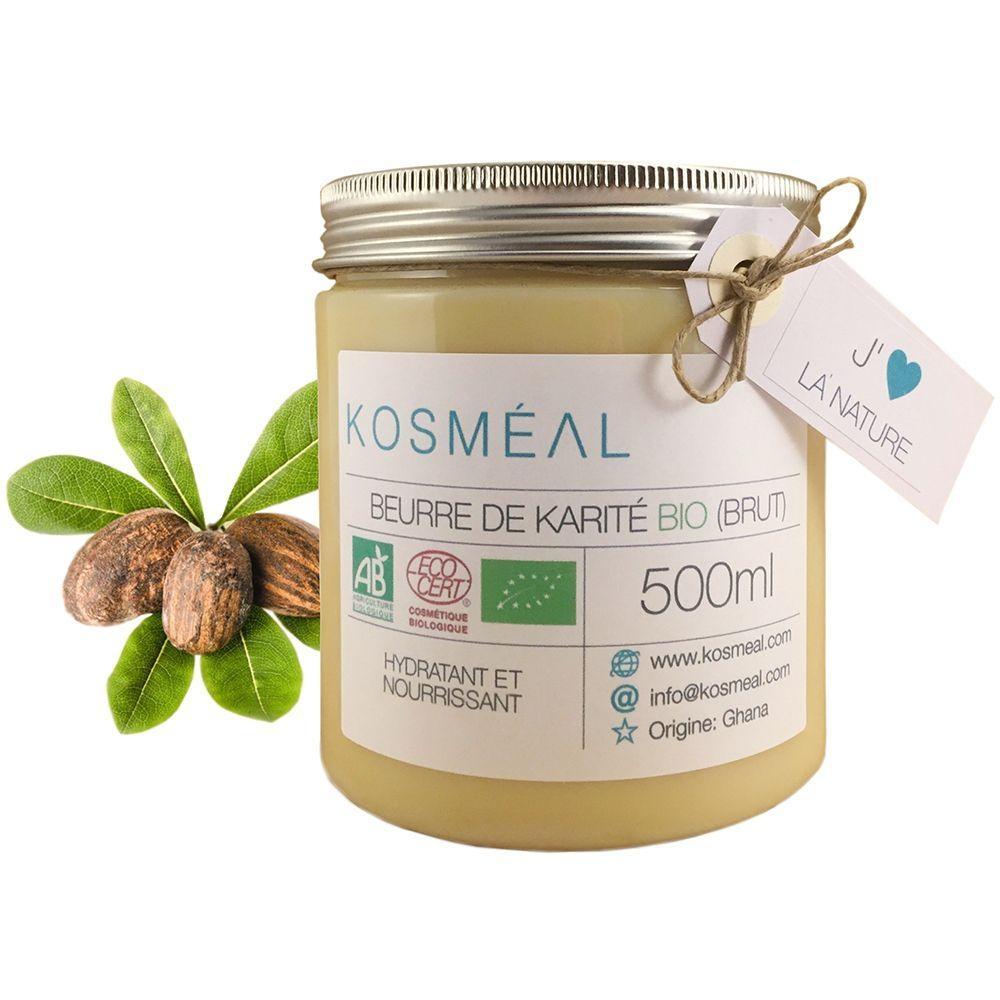 Beurre de Karité BIO Brut - Certifié Agriculture Biologique (AB) et ECOCERT - 500ml