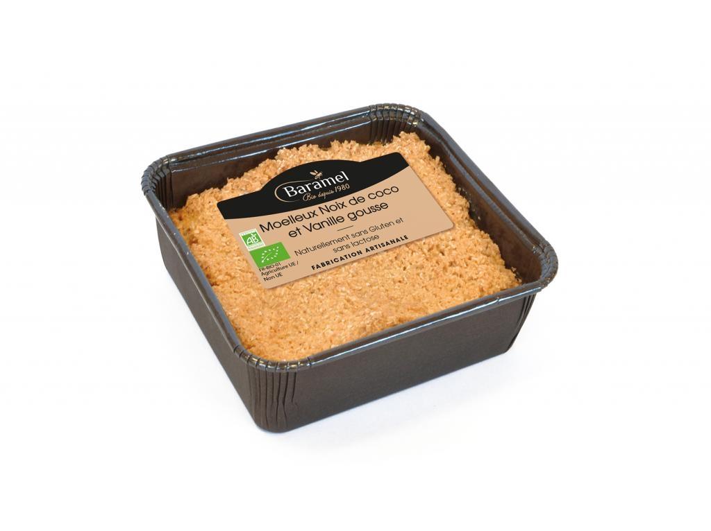 Gâteau moelleux A la Noix de Coco et Vanille biologique - Naturellement sans gluten et sans lactose 150g - Baramel