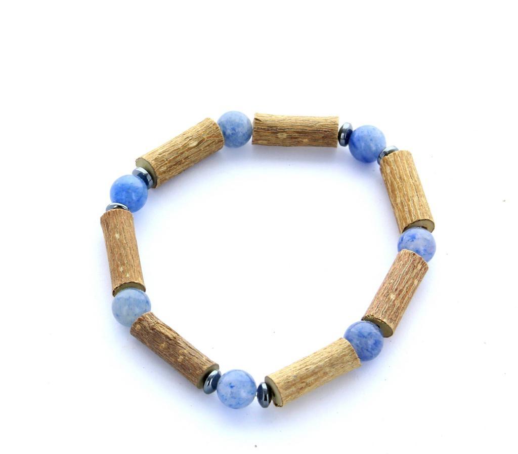 Bracelet de Noisetier   Aventurine bleue   Modèle 2   14CM
