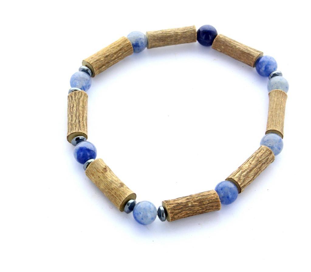 Bracelet de Noisetier | Aventurine bleue | Modèle 2 | 17CM