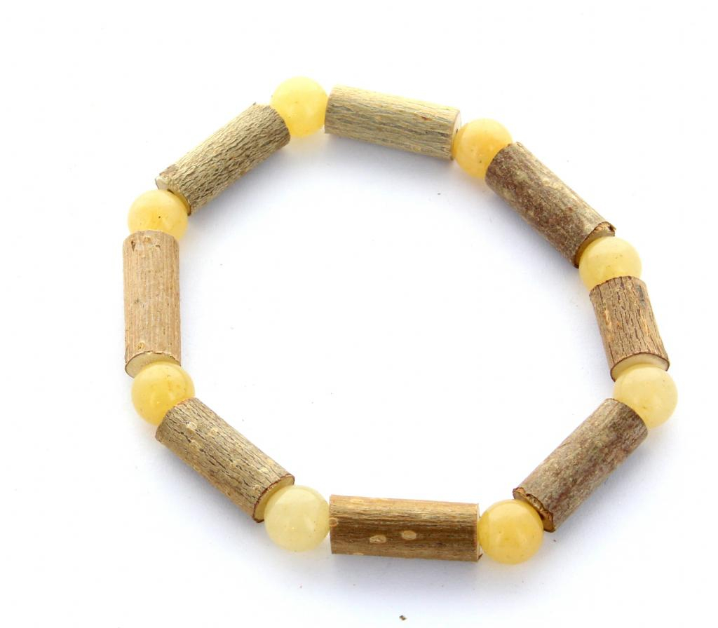 Bracelet de Noisetier | Aventurine jaune | Modèle 2 | 14cm