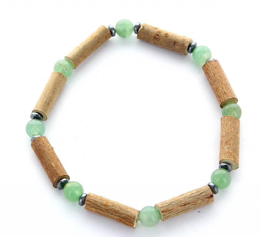 Bracelet de noisetier | Aventurine verte | hématite | modèle 2 | 19cm