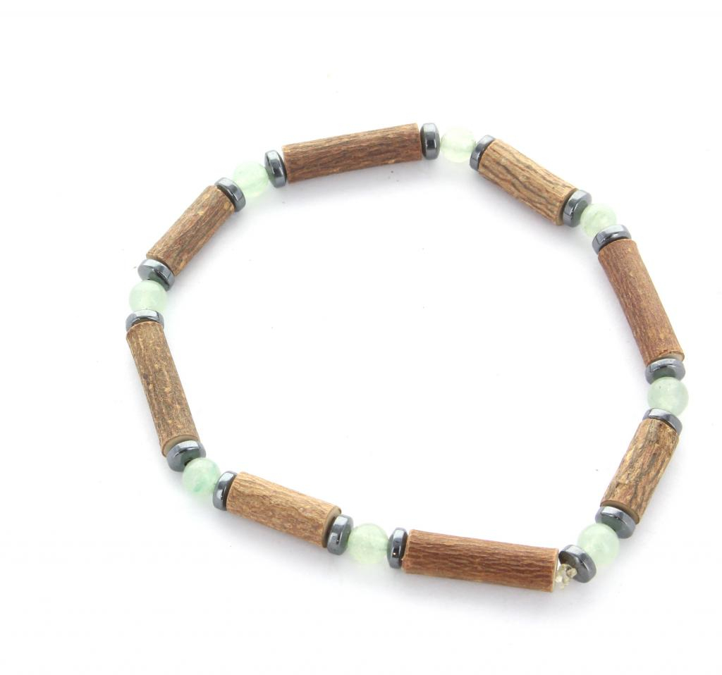 Bracelet de noisetier | Aventurine verte | hématite | modèle 1 | 17cm