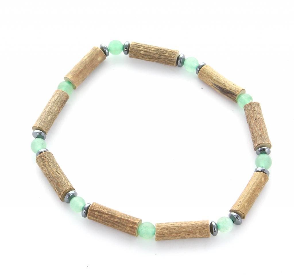 Bracelet de noisetier | Aventurine verte | hématite | modèle 2 | 18cm