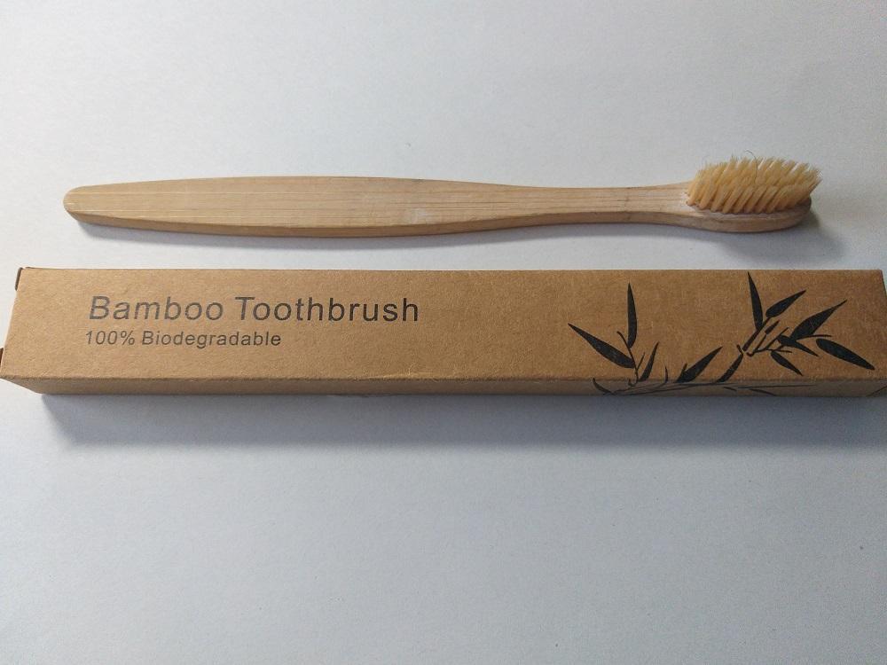 Brosse à dents écologique en bambou 100% biodégradable naturel médium souple
