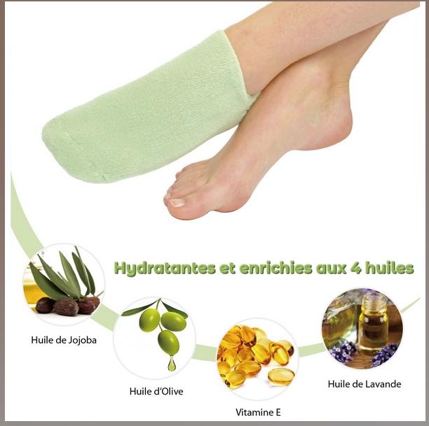 Chaussettes SPA Hydratantes Vert