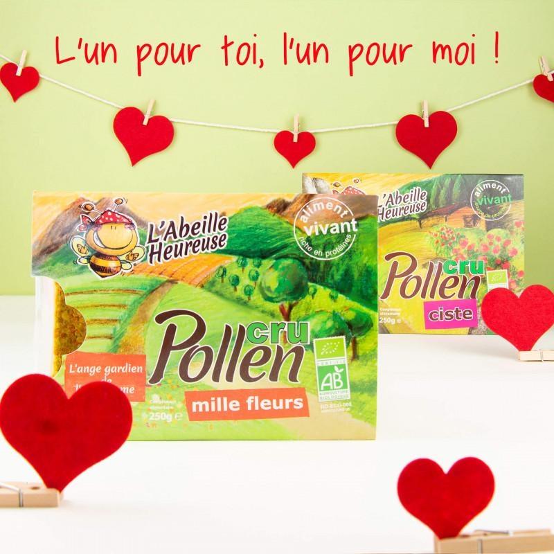 Coffret d'amour pollens crus BIO