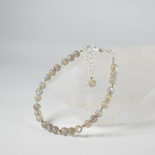 Bracelet Labradorite et argent