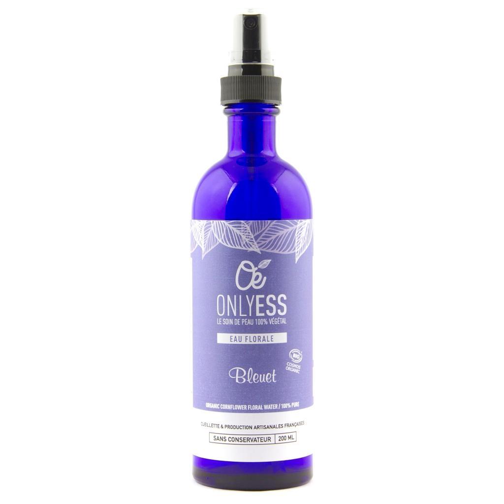 Véritable eau florale de Bleuet sauvage BIO - Flacon verre 200 ml