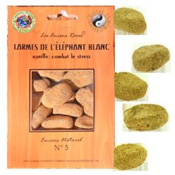 Larmes de l'Éléphant Blanc -Les Encens Rares, stress ® - Sachet de 25 Grammes