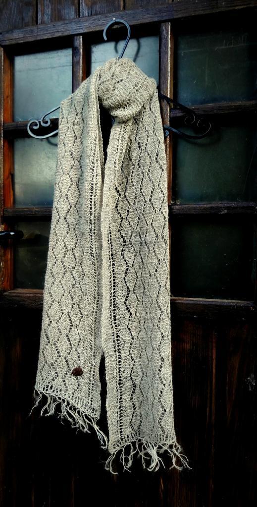 Foulard en fibre d'ortie