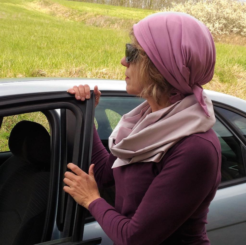 Bandana et foulard rose