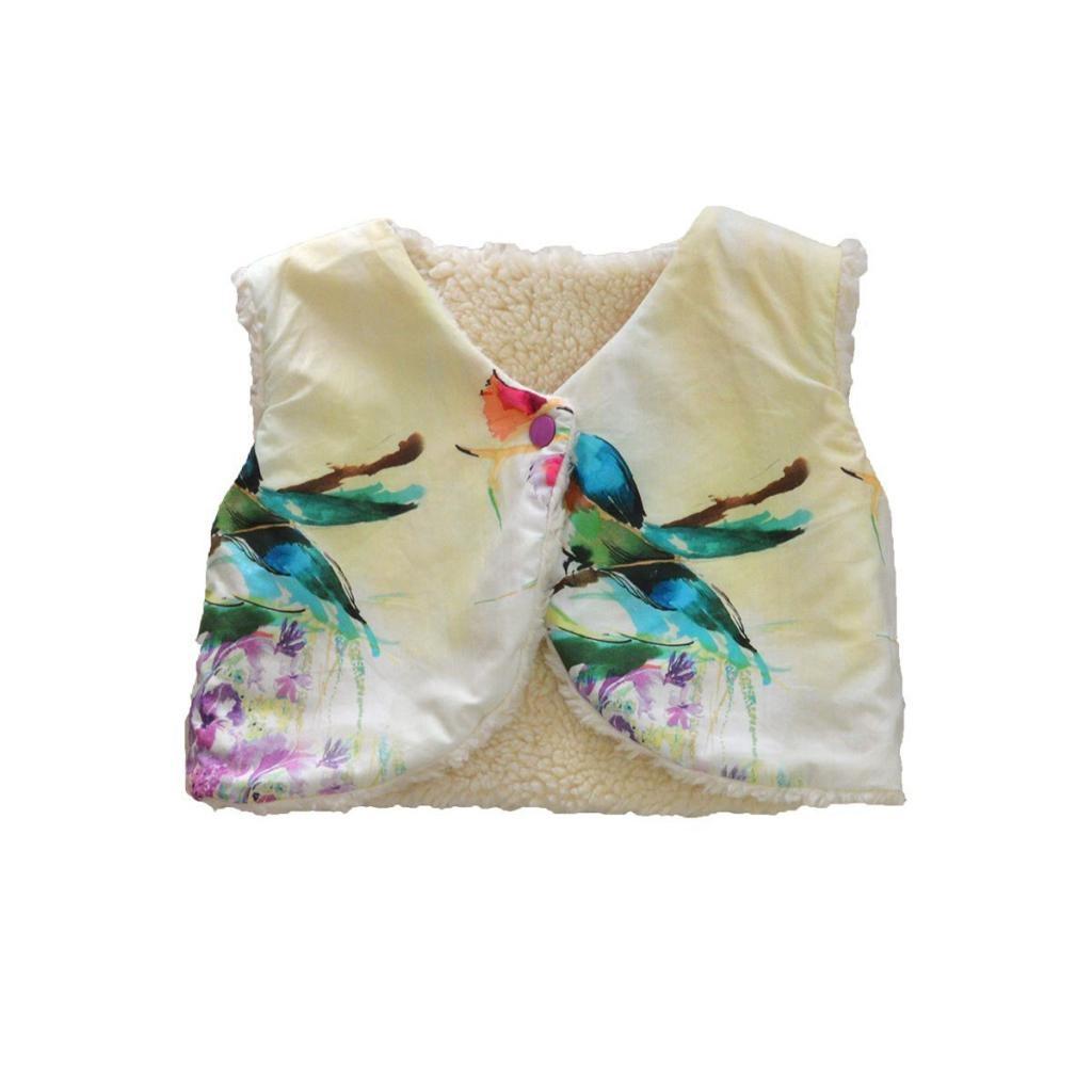 Gilet du berger imprimé fleurs et oiseaux Kolibri