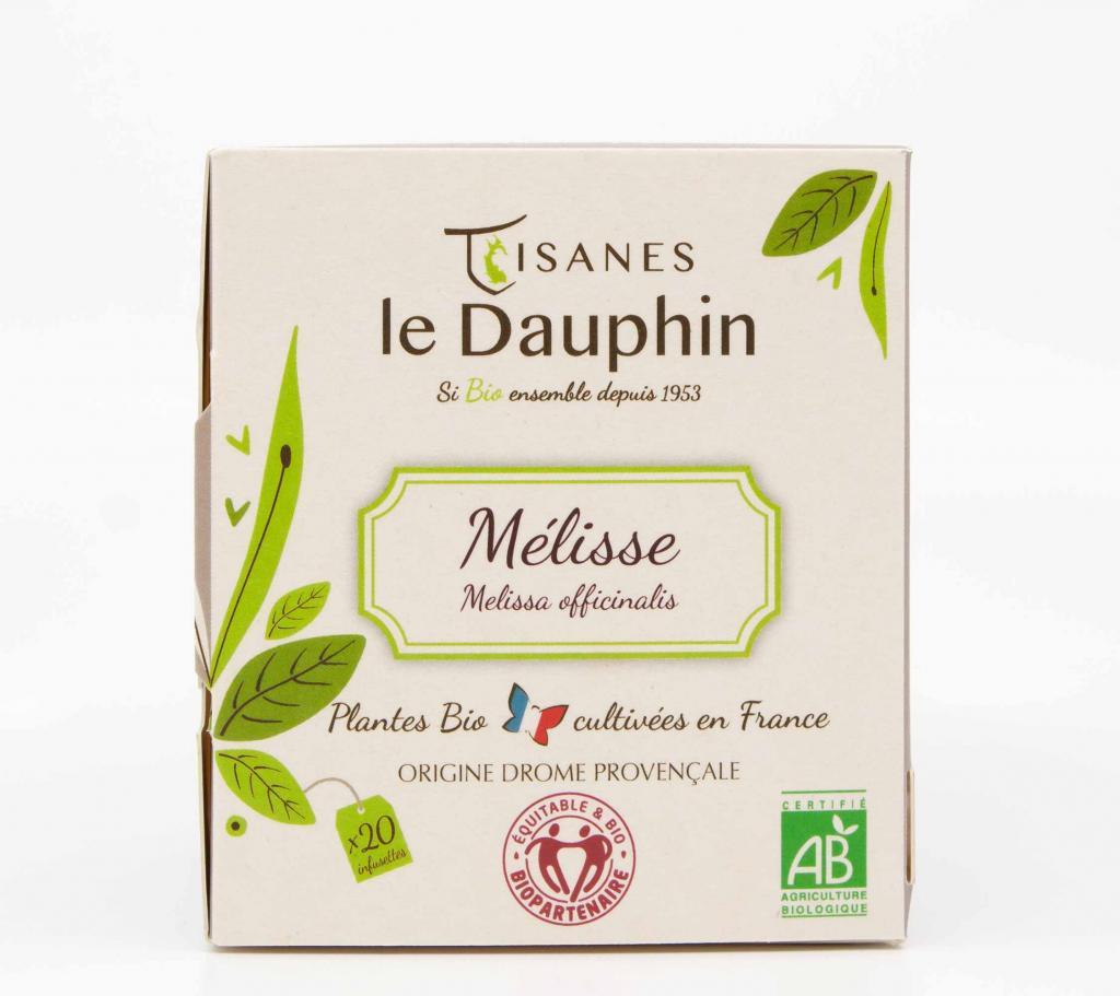infusion bio France mélisse tisanes le dauphin