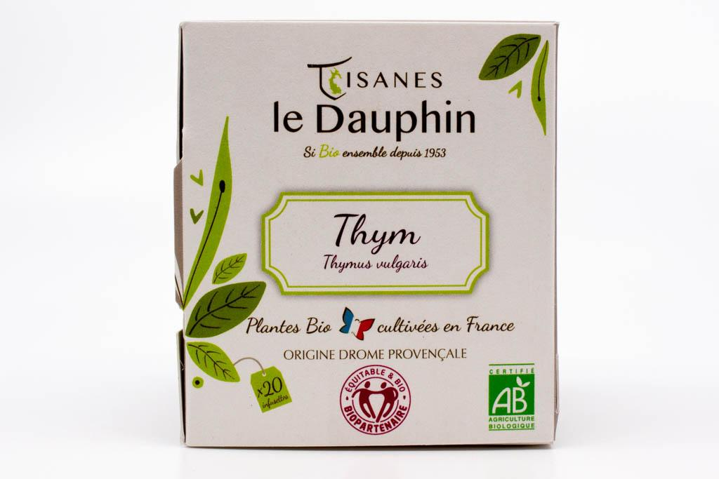 infusion bio france thym tisanes le dauphin