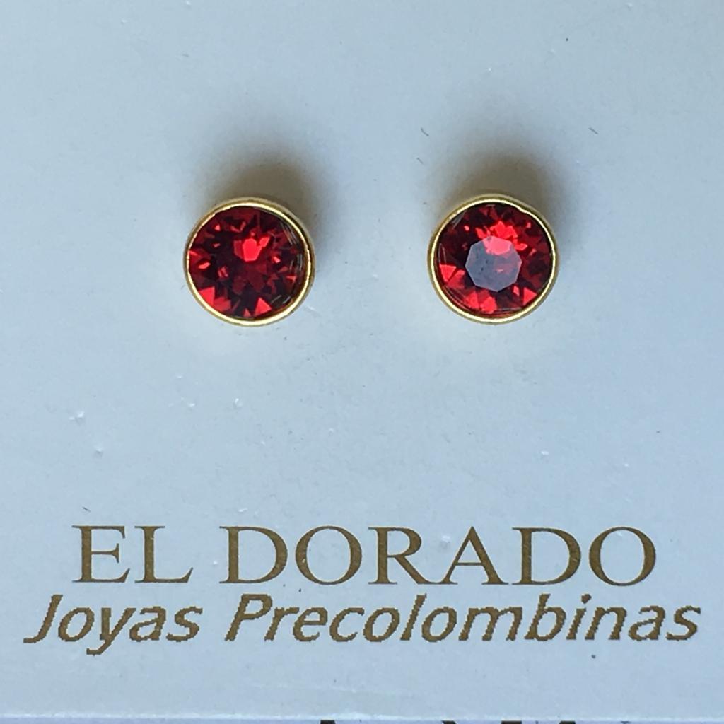 Boucles d'oreilles Puces Rouges