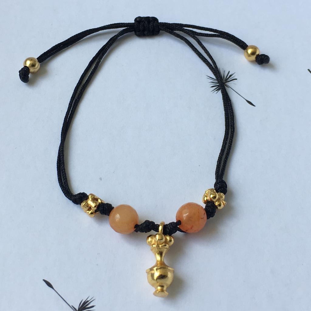 Bracelet fil noir Tairona.