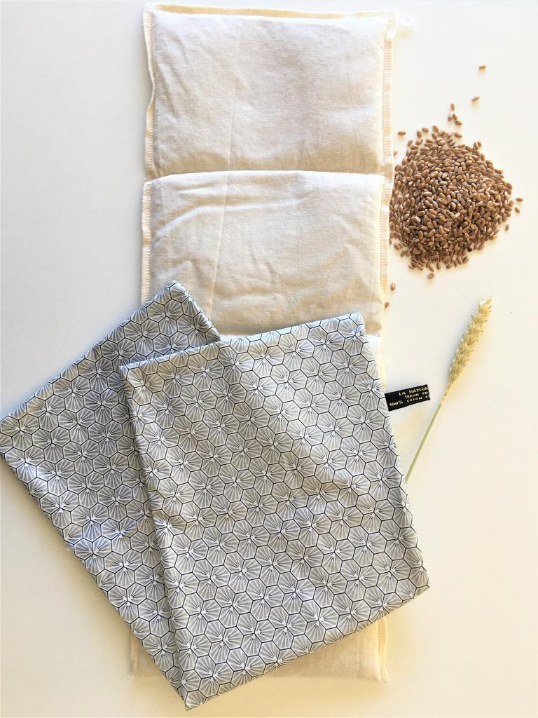 Bouillotte sèche au blé biologique argent