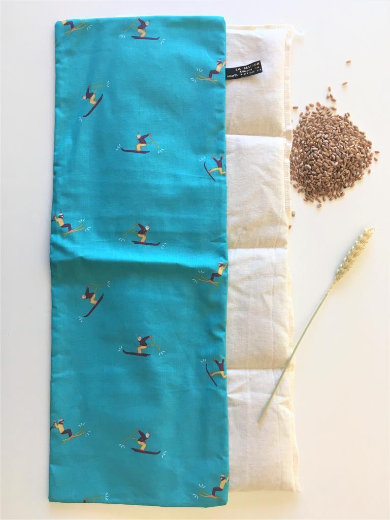 Bouillotte sèche au blé biologique ski