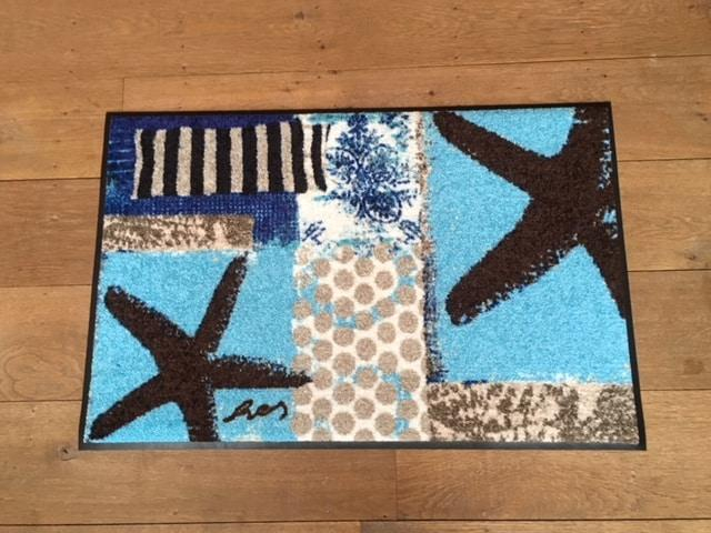 "Paillasson / tapis antidérapant et lavable thème "" MER"""