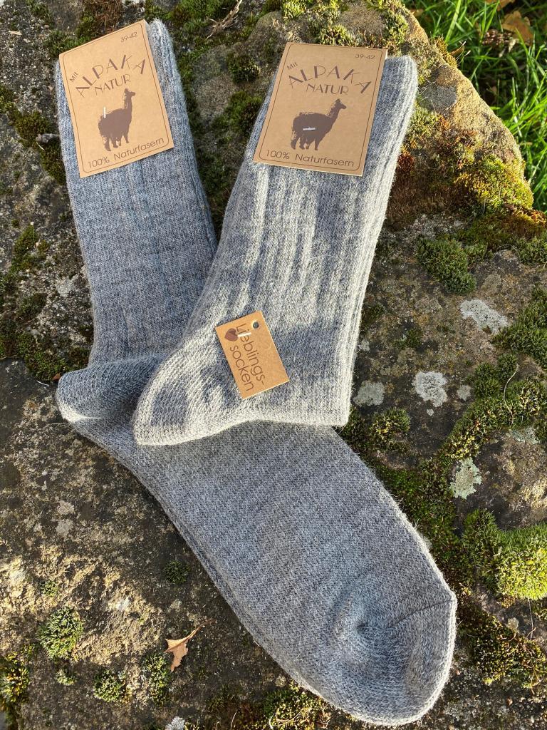 Lot de 2 paires de chaussettes laine/alpaga (gris)