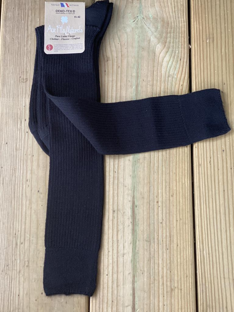 Lot de 2 paires de mi-bas 100% laine mérinos (noir)