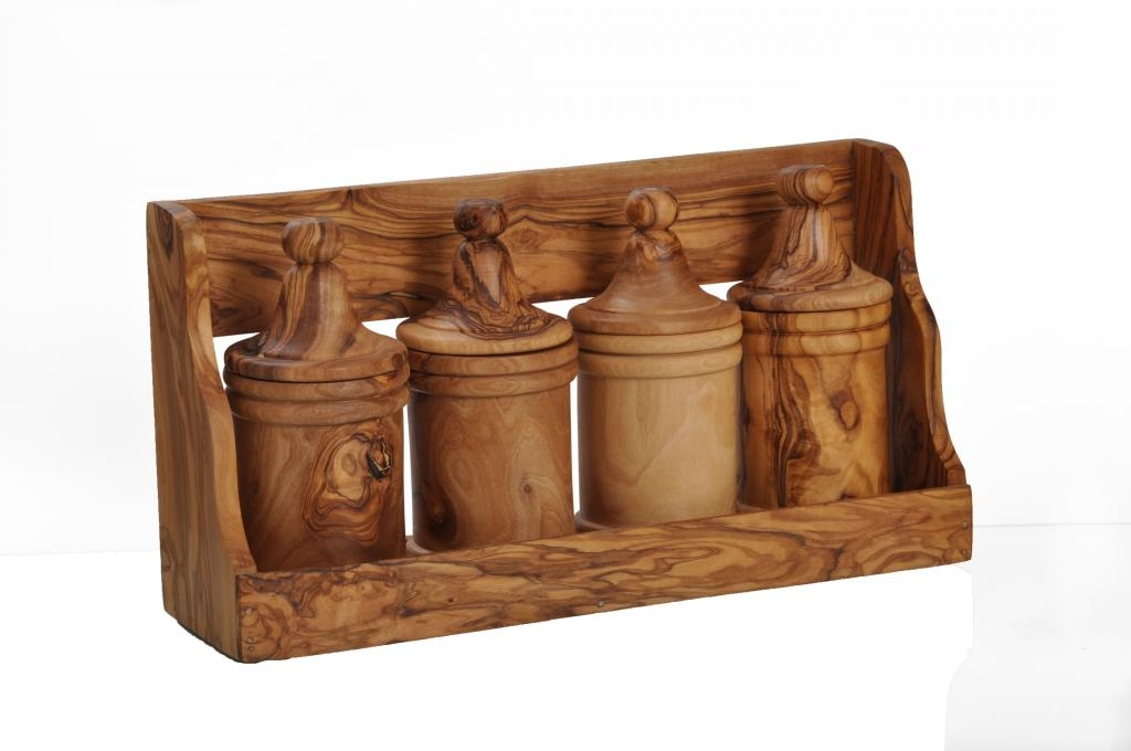 Porte épice en bois d'olivier