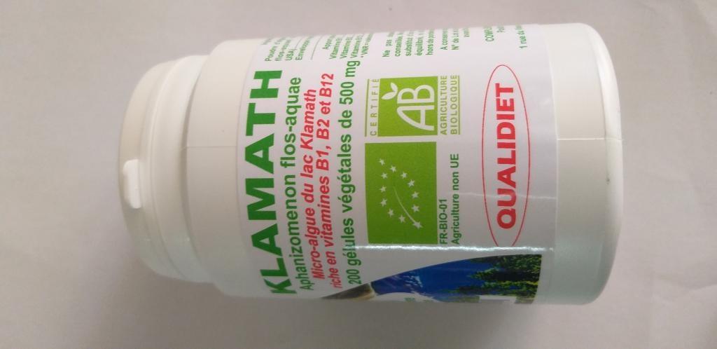 Algue Klamath bio  200 gélules