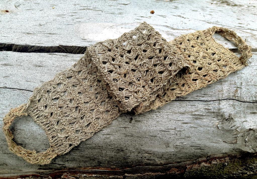 Lanière de lavage en fibre d'ortie pour le dos