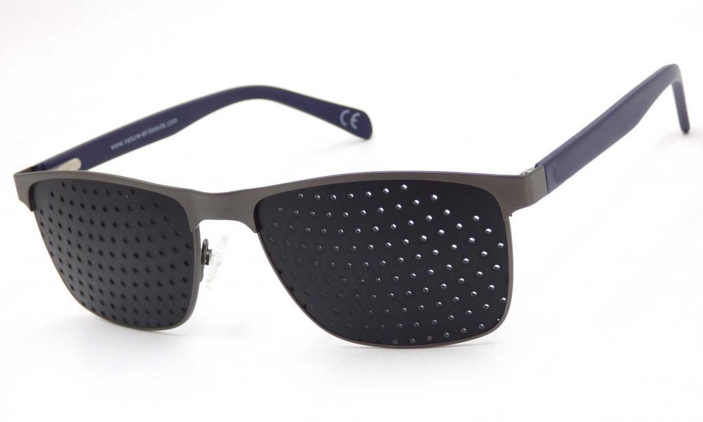 Lunettes à grilles   ou  lunettes à trous monture acier + livret de 32 pages méthode  offert en PDF