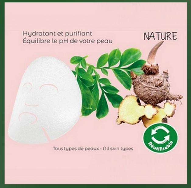 Masque Konjac Nature Réutilisable