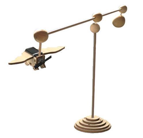Kit mini éole solaire tournant en bois