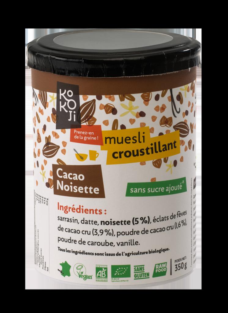 Muesli croustillant cacao noisette - 350 g