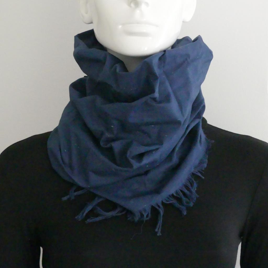 Le snood ou tour de cou Bucheron bleu marine - Homme