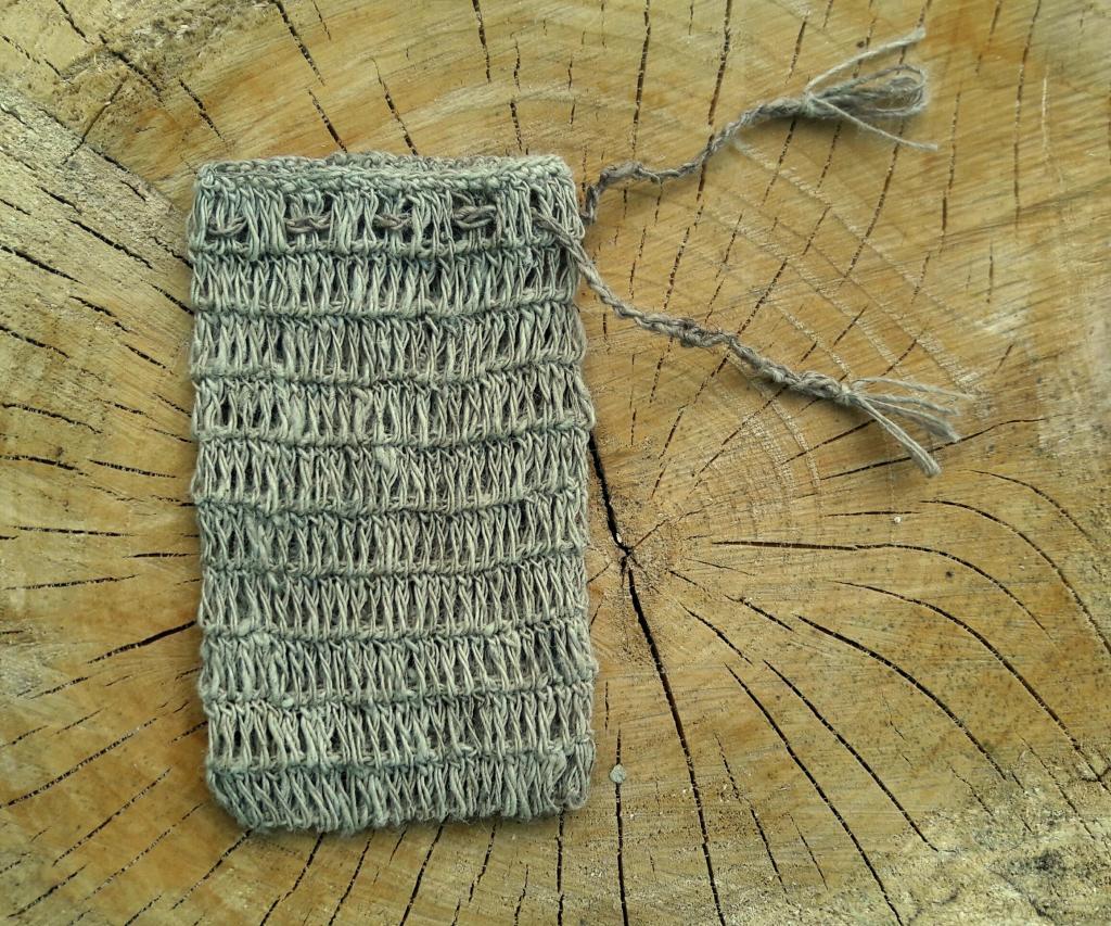 Pochon à savon en fibre d'ortie