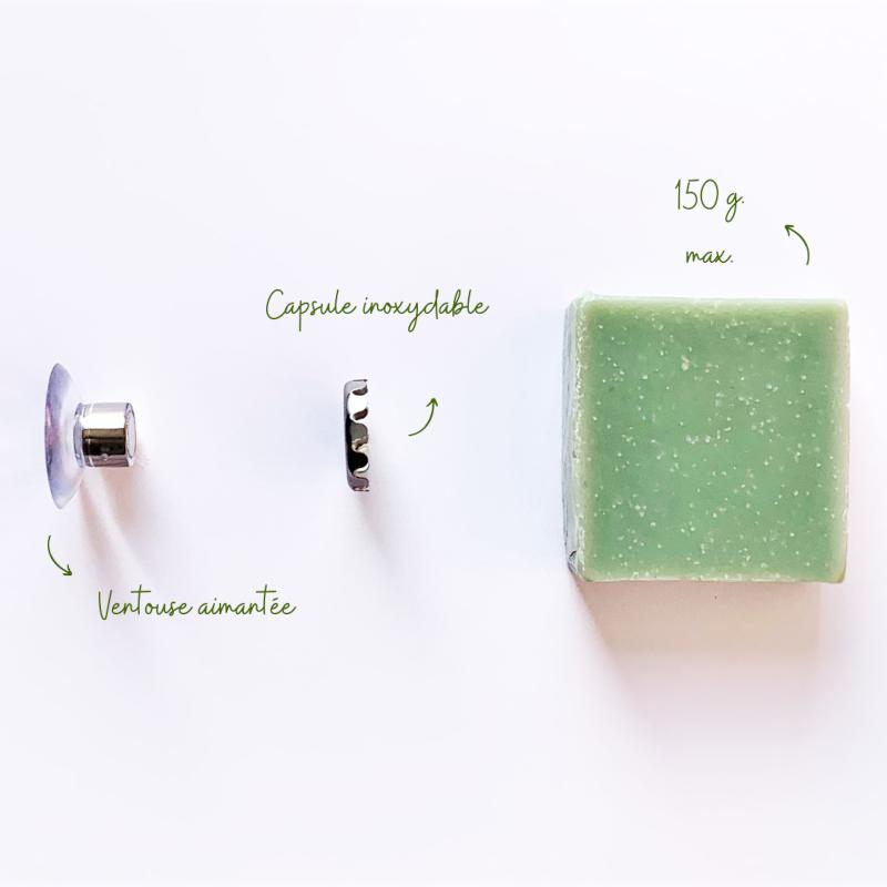 Porte-savon minimaliste aimanté