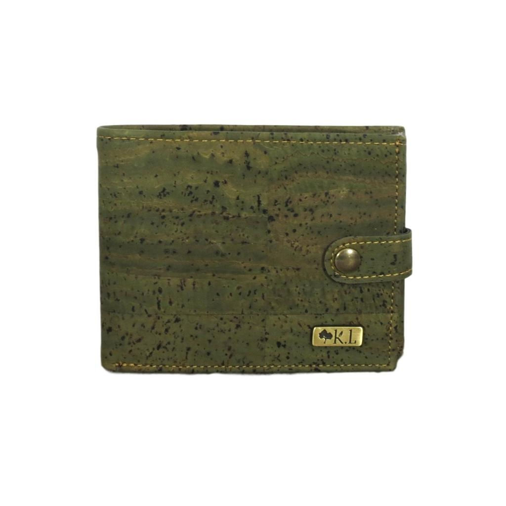 Portefeuille en liège vert
