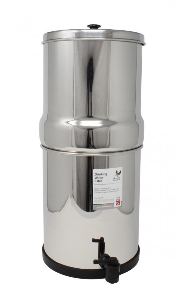 British Berkefeld SS4 purificateur d'eau à gravité - équipé de 4 cartouches ATC SuperSterasyl INOX
