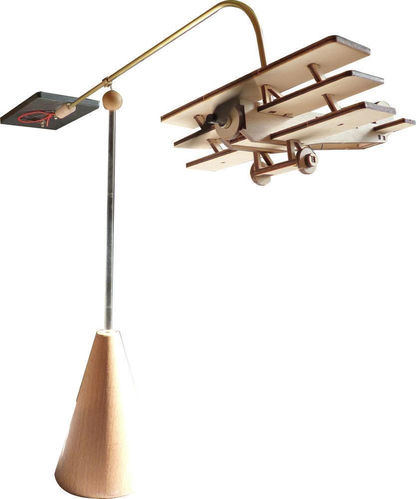 Kit avion solaire tournant en bois