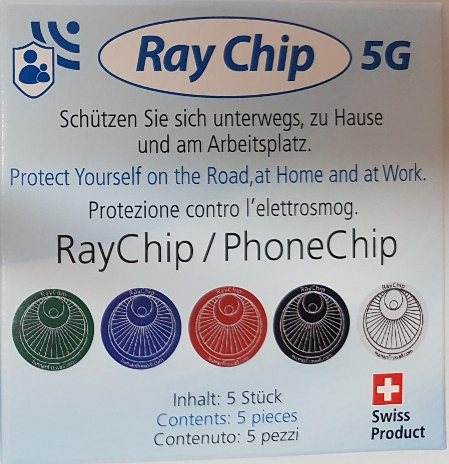 Ray Guard anti-4&5G - Ensemble de 5 puces